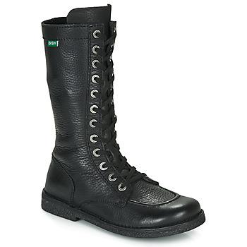 Schuhe Damen Klassische Stiefel Kickers MEETKIKNEW Schwarz