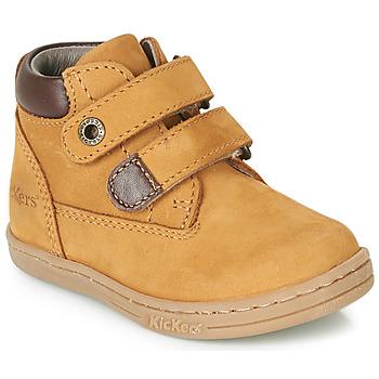 Schuhe Jungen Boots Kickers TACKEASY Camel / Braun