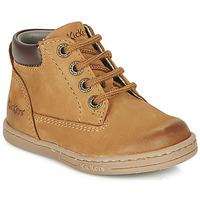 Schuhe Jungen Boots Kickers TACKLAND Camel / Braun