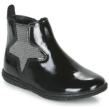 Schuhe Mädchen Boots Kickers VERMILLON Schwarz