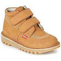 Schuhe Jungen Boots Kickers NEOVELCRO Camel
