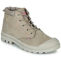Schuhe Damen Boots Palladium PAMPA LO CUFF LEA Grau