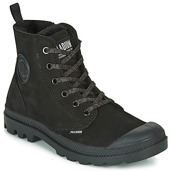 Schuhe Damen Boots Palladium PAMPA HI ZIP WL Schwarz