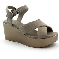 Schuhe Damen Sandalen / Sandaletten Frau FRA-E19-88C1-CO Beige