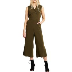 Kleidung Damen Overalls / Latzhosen Vila VIKAYA CROPPED BLAZER JUMPSUIT grün