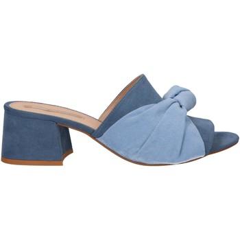 Schuhe Damen Pantoletten MTNG 58417 Azul