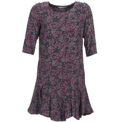 Kleidung Damen Kurze Kleider See U Soon BOETICO Schwarz / Violett