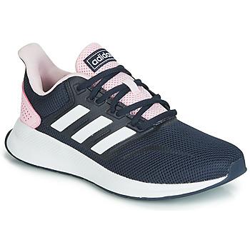 Schuhe Damen Sneaker Low adidas Performance RUNFALCON Schwarz / Rose