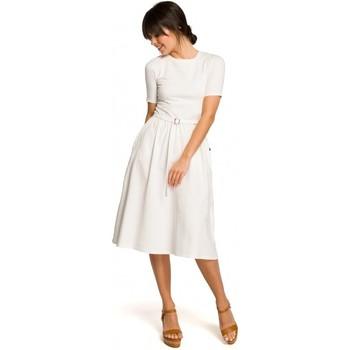 Kleidung Damen Strickjacken Be B120 Midikleid mit Schlaghose - rosa