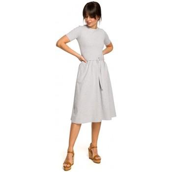 Kleidung Damen Jacken Be B120 Midikleid mit Schlaghose - schwarz