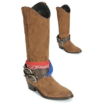 Schuhe Damen Klassische Stiefel Replay FRUITLAND Camel