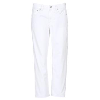 Kleidung Damen Boyfriend Jeans G-Star Raw 3301 MID BOYFRIEND 7/8 Weiss