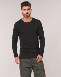 Kleidung Herren Langarmshirts G-Star Raw BASE TEE Schwarz
