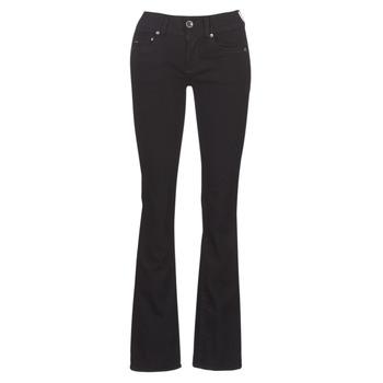 Kleidung Damen Bootcut Jeans G-Star Raw MIDGE MID BOOTCUT WMN Schwarz