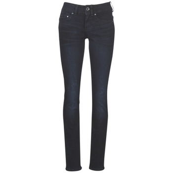 Kleidung Damen Straight Leg Jeans G-Star Raw MIDGE MID STRAIGHT WMN Blau / Dark