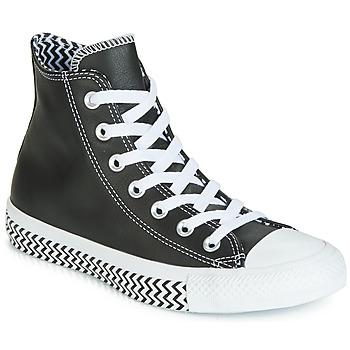 Schuhe Damen Sneaker High Converse CHUCK TAYLOR ALL STAR VLTG LEATHER HI Schwarz