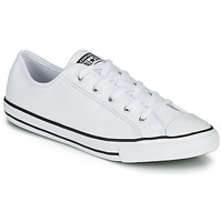 Schuhe Damen Sneaker Low Converse CHUCK TAYLOR ALL STAR DAINTY GS  LEATHER OX Weiss
