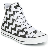 Schuhe Damen Sneaker High Converse CHUCK TAYLOR ALL STAR GLAM DUNK CANVAS HI Schwarz / Weiss
