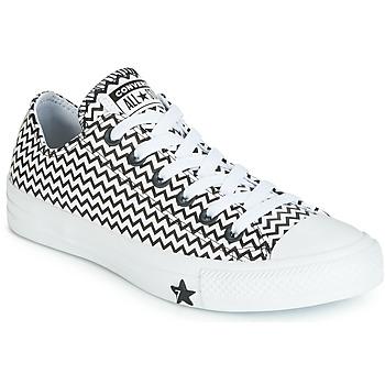Schuhe Damen Sneaker Low Converse CHUCK TAYLOR ALL STAR VLTG LEATHER OX Weiss / Schwarz