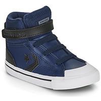 Schuhe Kinder Sneaker High Converse PRO BLAZE STRAP MARTIAN LEATHER HI Blau / Schwarz