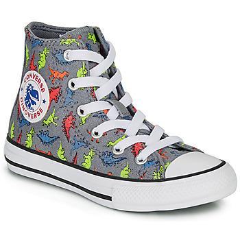 Schuhe Jungen Sneaker High Converse CHUCK TAYLOR ALL STAR DINOVERSE HI Grau