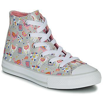 Schuhe Mädchen Sneaker High Converse CHUCK TAYLOR ALL STAR LLAMA HI Grau / Multifarben