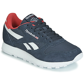 Schuhe Sneaker Low Reebok Classic CL LEATHER MU Marine / Rot