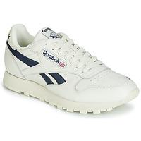 Schuhe Sneaker Low Reebok Classic CL LEATHER MU Weiss / Schwarz