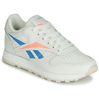 Schuhe Damen Sneaker Low Reebok Classic CL LTHR Beige / Blau / Orange