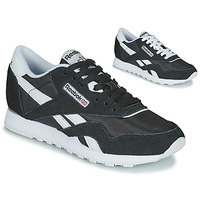 Schuhe Damen Sneaker Low Reebok Classic CL NYLON Schwarz / Weiss