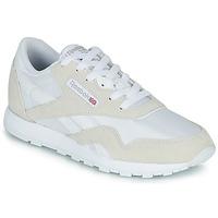 Schuhe Kinder Sneaker Low Reebok Classic CL NYLON J Weiss / Beige