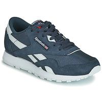 Schuhe Kinder Sneaker Low Reebok Classic CL NYLON J Marine / Weiss