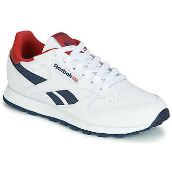 Schuhe Kinder Sneaker Low Reebok Classic CLASSIC LEATHER J Weiss / Rot