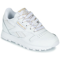 Schuhe Mädchen Sneaker Low Reebok Classic CLASSIC LEATHER C Weiss / Glitterfarbe