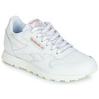 Schuhe Mädchen Sneaker Low Reebok Classic CLASSIC LEATHER J Weiss / Glitterfarbe