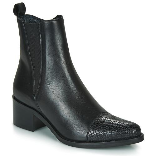 Schuhe Damen Low Boots Myma PETULA Schwarz