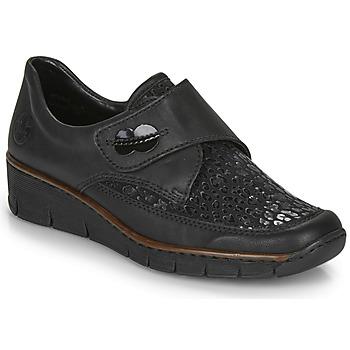 Schuhe Damen Sneaker Low Rieker 537C0-02 Schwarz