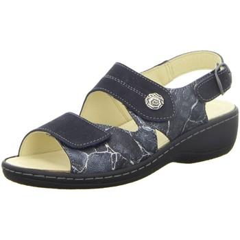 Schuhe Damen Sandalen / Sandaletten Longo Sandaletten Bequem-Pantoletten,schwarz/nav 1019587 blau