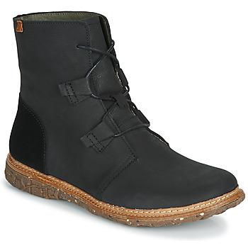 Schuhe Damen Boots El Naturalista ANGKOR Schwarz