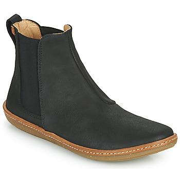 Schuhe Damen Boots El Naturalista CORAL Schwarz