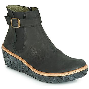 Schuhe Damen Low Boots El Naturalista MYTH YGGDRASIL Schwarz