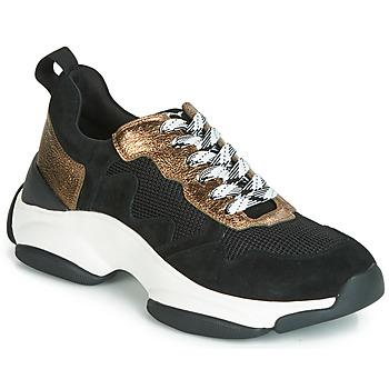 Schuhe Damen Sneaker Low Mam'Zelle HELIUM Schwarz / Bronze