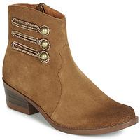 Schuhe Damen Boots Mam'Zelle JUDITH Cognac