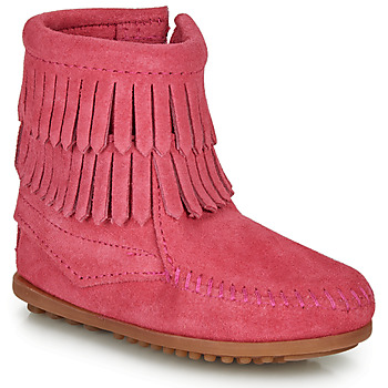 Schuhe Mädchen Boots Minnetonka DOUBLE FRINGE SIDE ZIP BOOT Rose