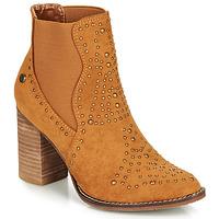 Schuhe Damen Low Boots Xti AMELIO Camel