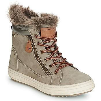 Schuhe Damen Boots Tom Tailor MARGA Grau