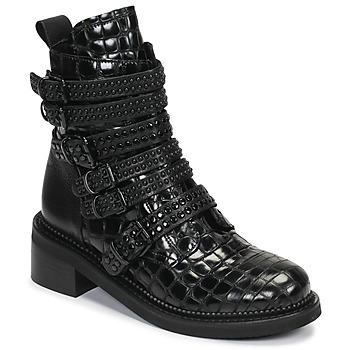 Schuhe Damen Boots Mimmu RIPTILUS Schwarz