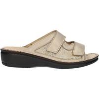 Schuhe Damen Pantoffel Clia Walk Estraibile408 Platin