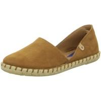 Schuhe Damen Leinen-Pantoletten mit gefloch Verbenas Slipper Carmen 030058-0001-0871 braun