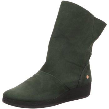 Schuhe Damen Klassische Stiefel Softinos Stiefeletten Ann P900417005 grün